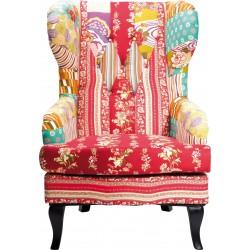 Cadeira Wing Patchwork Vermelha