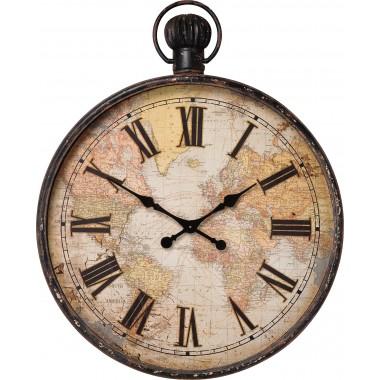 Relógio de Parede European Map 96cm