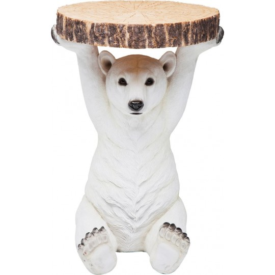 Mesa de Apoio Animal Polar Bear Ø37cm-78943 (11)