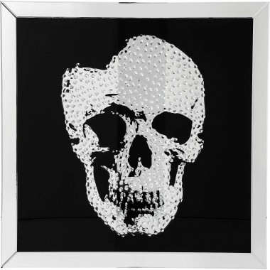 Quadro c/ moldura Espelho Skull 100x100cm