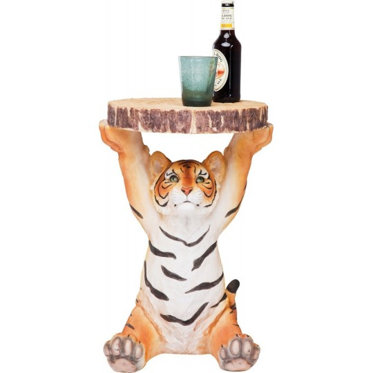 Mesa de Apoio Animal Tiger Ø35cm