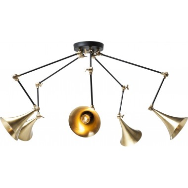 Candeeiro de Tecto Trumpet Brass Spider 5 Lâmpadas