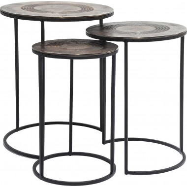 Tables d'appoint Marrakesh 3/set Kare Design