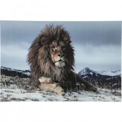 Quadro de Vidro Proud Lion 120x180cm