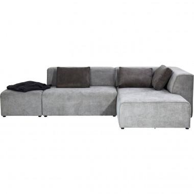 Sofá Infinity Cinzento c/chaise à direita