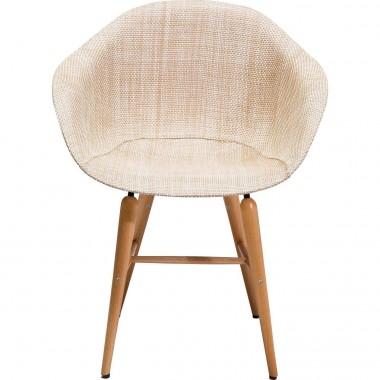 Chaise avec accoudoirs Forum naturel Kare Design