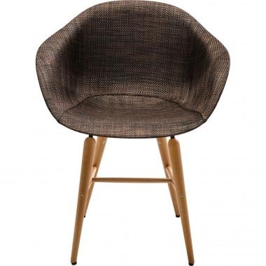 Chaise avec accoudoirs Forum marron Kare Design