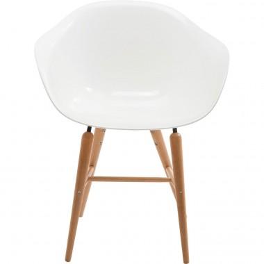 Chaise avec accoudoirs Forum blanche Kare Design
