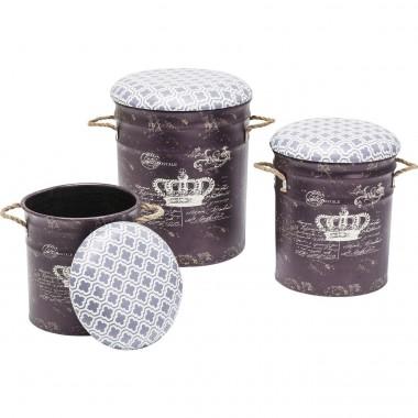 Tabourets Storage Royal 3/set Kare Design