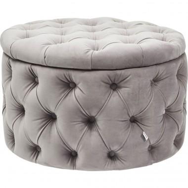 Pouf Coffre Desire gris Kare Design