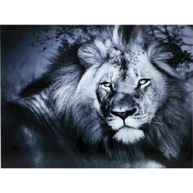 Quadro de Vidro Lion King Lying 120x160cm