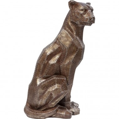 Peça Decorativa Sitting Cat Rivet Cobre