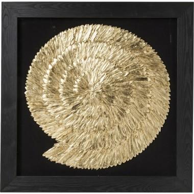 Quadro c/ moldura Dourado Snail 120x120cm
