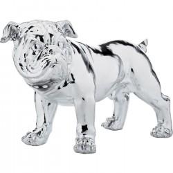 Peça Decorativa Bulldogge Prateada Smart 42cm