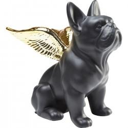 Peça Decorativa Sitting Angel Dog Dourado/Preto-38719 (4)