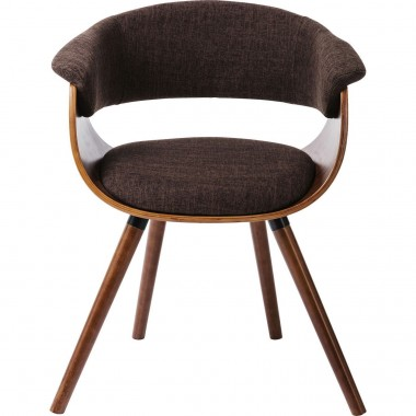 Chaise avec accoudoirs Monaco choco Kare Design