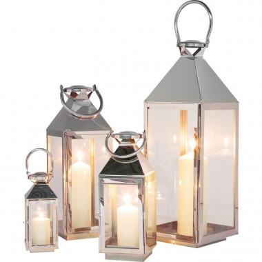 Lanterna Giardino Prateada (conj.4)