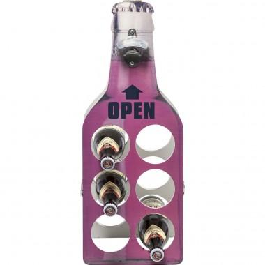 Porte-bouteilles Open Bottle rose Kare Design