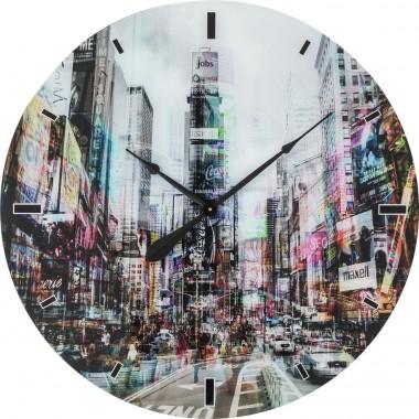 Relógio de Parede em vidro Times Square Ø80cm