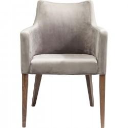 Cadeira de braços Mode em veludo Cinzento-82470 (7)