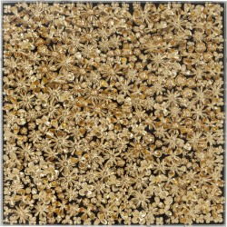 Quadro c/ moldura Gold Flower 120x120cm