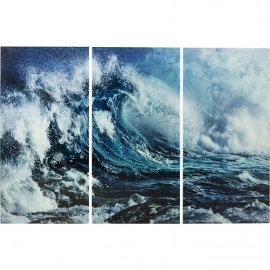 Quadro de Vidro Triptychon Wave 160x240cm (conj.3)