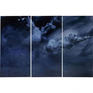 Quadro de Vidro Triptychon Clouds 160x240cm (conj.3)