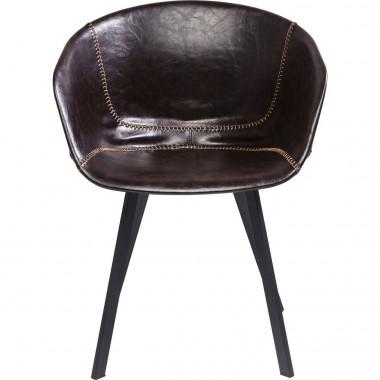Cadeira de braços Lounge Castanha