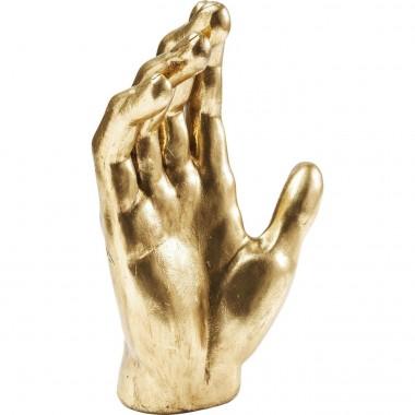 Peça Decorativa Mano Dourada