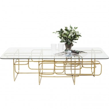 Table basse Meander doré 140x80cm Kare Design