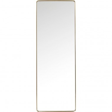 Espelho Curve Rectangular em Latão 200x70cm