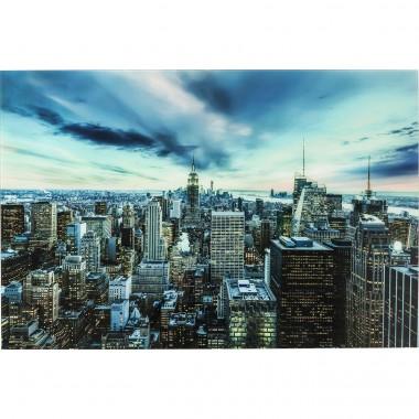 Quadro de Vidro New York Sunset 120x160cm