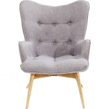 Fauteuil Vicky gris Kare Design