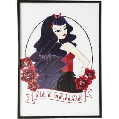 Tableau Frame Hey Sailor 41x29cm Kare Design