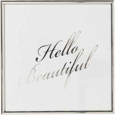 Tableau Frame Hello Beautiful 27x27cm Kare Design