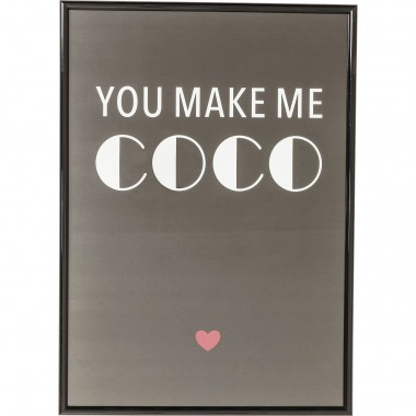 Tableau Frame You Make Me Coco 42x30cm Kare Design