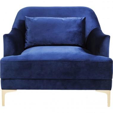 Fauteuil Proud velours bleu roi Kare Design