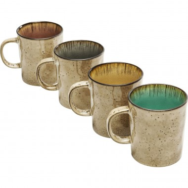 Tasses Crackle Vivido assorti set de 4 Kare Design