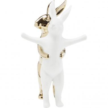 Peça Decorativa Hugging Rabbits Medium