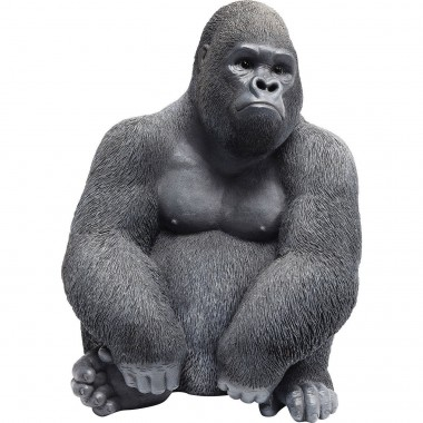 Peça Decorativa Monkey Gorilla Side Medium Preto