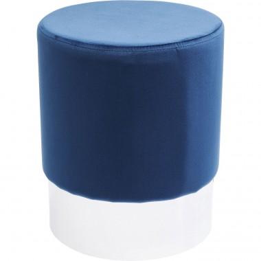 Banco Cherry Azul/Prateado Ø35cm