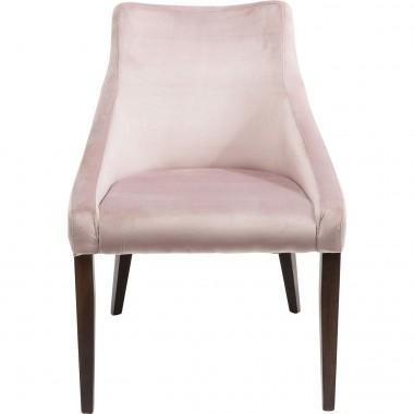 Cadeira Mode em veludo Malva