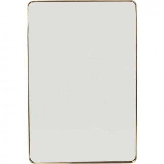 Espelho Curve Rectangular Dourado 120x80cm
