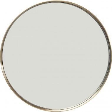 Espelho Curve redondo Dourado Ø60cm