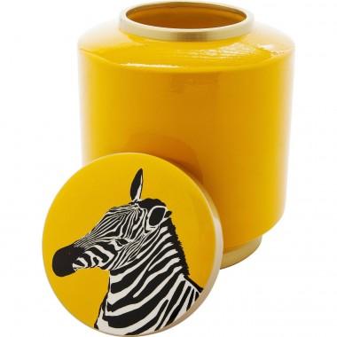 Pote Decorativo Zebra Amarelo 25cm
