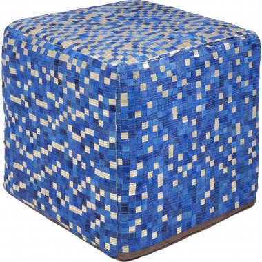 Pouf Pixel bleu 40x40cm Kare Design