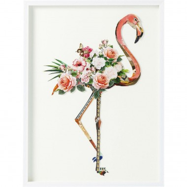 Quadro c/ moldura Art Flamingo 100x75cm