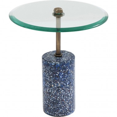 Table d'appoint Terrazzo visible bleu 46cm Kare Design