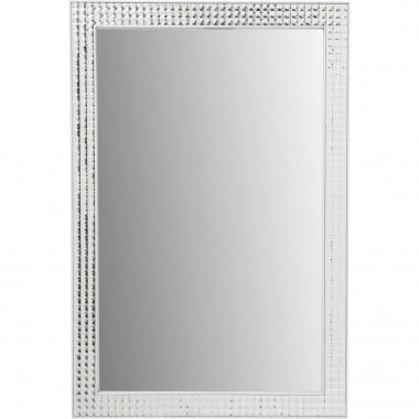 Espelho Crystals metal Branco 80x60cm