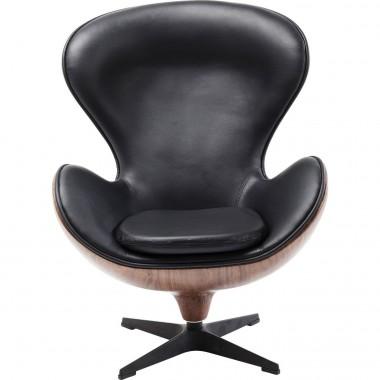 Fauteuil pivotant Lounge noir Kare Design